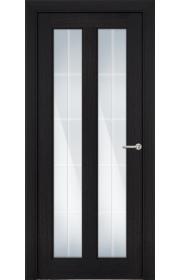 Двери Статус 612 Венге пепельный стекло Английская решетка