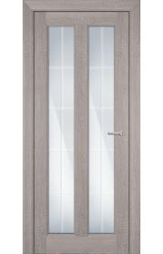 Двери Статус 612 Дуб серый стекло Английская решетка