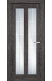 Двери Статус 612 Дуб патина стекло Английская решетка