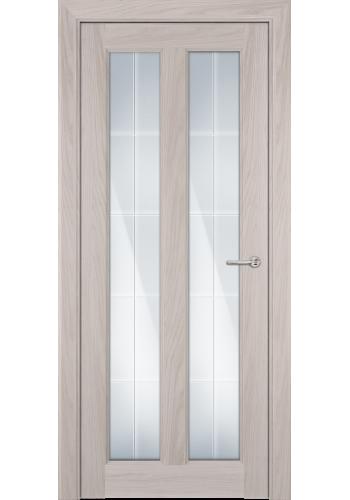 Двери Статус 612 Ясень стекло Английская решетка
