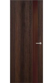 Двери Статус 703 Орех стекло Лакобель коричневое