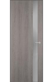Двери Статус 703 Дуб серый стекло Лакобель серое