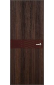Двери Статус 702 Орех стекло Лакобель коричневое