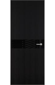 Двери Статус 702 Пепельный венге стекло Лакобель черное