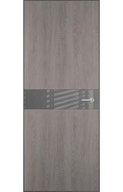 Двери Статус 702 Дуб серый стекло Лакобель серое
