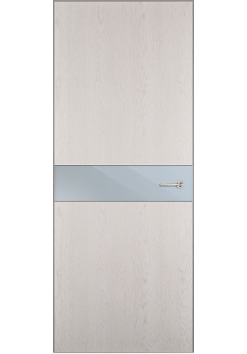 Двери Статус 702 Дуб белый стекло Зеркало