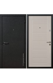 Двери Стальная Линия Вега Шелк черный - Пломбир