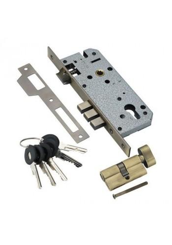 Замок с секретным цилиндром Adden Bau Lock 4585 5-60B D Бронза