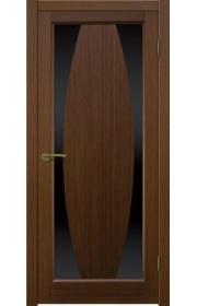 Двери Матадор Атик 3 Орех люкс Стекло черное