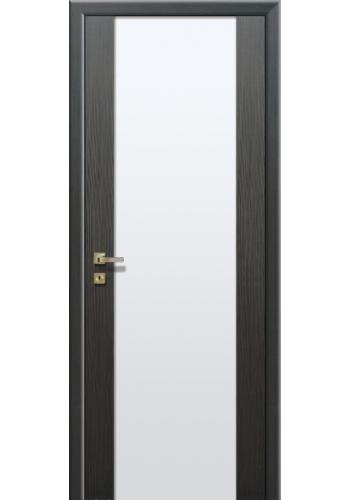 Дверь Профиль Дорс 8Х Грей мелинга Стекло белое