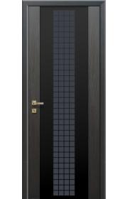 Дверь Профиль Дорс 8X Futura Грей Мелинга Черный триплекс