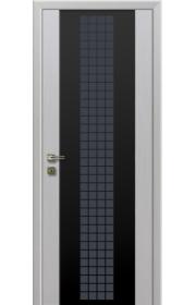 Дверь Профиль Дорс 8X Futura Эш вайт Мелинга Черный триплекс