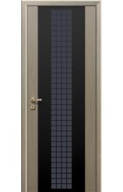 Дверь Профиль Дорс 8X Futura Капучино Мелинга Черный триплекс