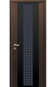 Дверь Профиль Дорс 8X Futura Малага Черри Кроскут Черный триплекс