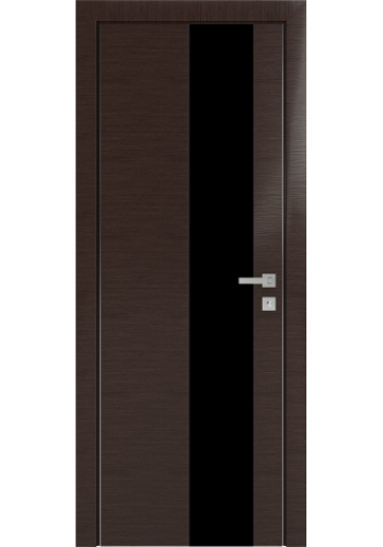 Дверь Профиль Дорс 5Z Венге Кроскут Стекло черное