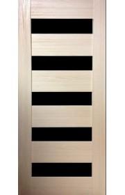 Дверь Профиль Дорс 29X Капучино мелинга Стекло черное