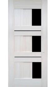 Дверь Профиль Дорс 35X Эш Вайт мелинга Стекло черное