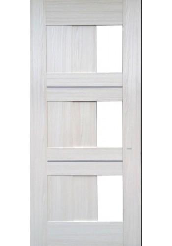 Дверь Профиль Дорс 35X Эш Вайт мелинга Стекло белое