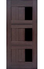 Дверь Профиль Дорс 35X Венге мелинга Стекло черное