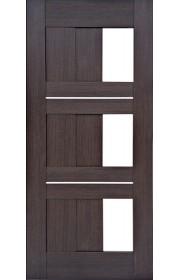 Дверь Профиль Дорс 35X Венге мелинга Стекло белое
