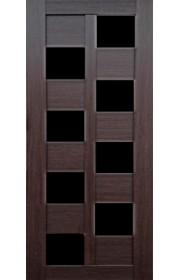 Дверь Профиль Дорс 36X Венге мелинга Стекло черное