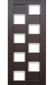 Дверь Профиль Дорс 36X Венге мелинга Стекло белое