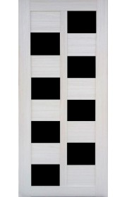 Дверь Профиль Дорс 36X Эш Вайт мелинга Стекло черное