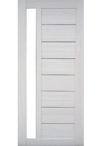 Дверь Профиль Дорс 37Х Эш Вайт мелинга Стекло белое