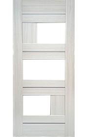 Дверь Профиль Дорс 39Х Эш Вайт Мелинга Стекло белое