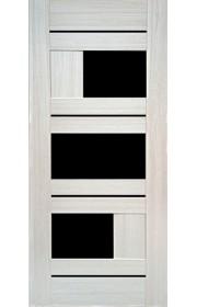 Дверь Профиль Дорс 39Х Эш Вайт Мелинга Стекло черное
