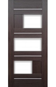 Дверь Профиль Дорс 39Х Венге Мелинга Стекло белое