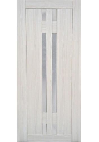 Дверь Профиль Дорс 40Х Эш Вайт мелинга Стекло белое