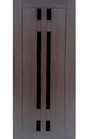 Дверь Профиль Дорс 40Х Венге мелинга Стекло черное