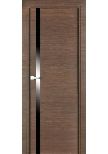 Дверь Профиль Дорс 6Z Венге Кроскут стекло Черное