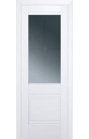 Двери Профиль Дорс 2U Аляска Стекло Узор графит 1