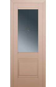 Двери Профиль Дорс 2U Капучино Сатинат Стекло Узор графит 1