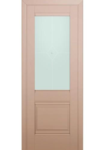 Двери Профиль Дорс 2U Капучино Сатинат Стекло Узор матовый