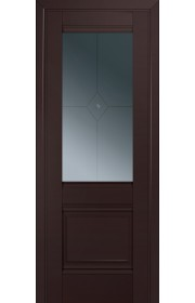 Двери Профиль Дорс 2U Темно-коричневый Стекло Узор графит 1