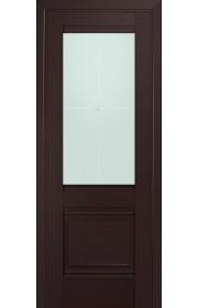 Двери Профиль Дорс 2U Темно-коричневый Стекло Узор матовый