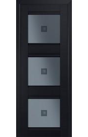 Двери Профиль Дорс 4U Черный матовый Стекло Узор графит 2
