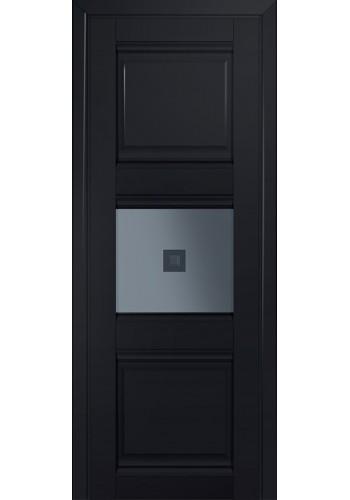 Двери Профиль Дорс 5U Черный матовый Стекло Узор графит 2
