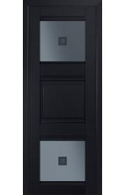 Двери Профиль Дорс 6U Черный матовый Стекло Узор графит 2
