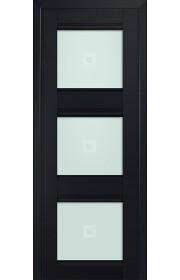 Двери Профиль Дорс 4U Черный матовый Стекло Узор матовый 2
