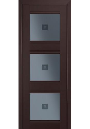 Двери Профиль Дорс 4U Темно-коричневый Стекло Узор графит 2