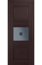 Двери Профиль Дорс 5U Темно-коричневый Стекло Узор графит 2
