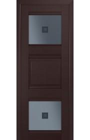 Двери Профиль Дорс 6U Темно-коричневый Стекло Узор графит 2