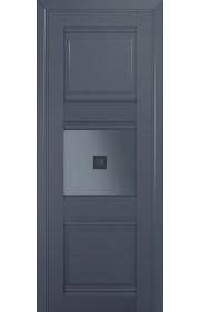 Двери Профиль Дорс 5U Антрацит Стекло Узор графит 2
