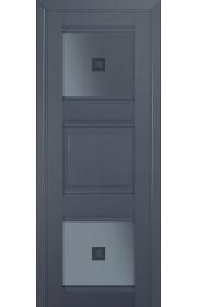 Двери Профиль Дорс 6U Антрацит Стекло Узор графит 2