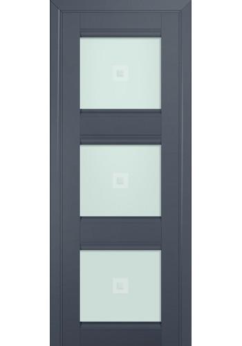 Двери Профиль Дорс 4U Антрацит Стекло Узор матовый 2