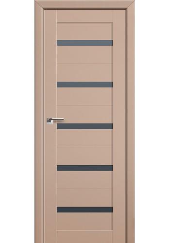 Двери Профиль Дорс 7U Капучино Сатинат Стекло Графит